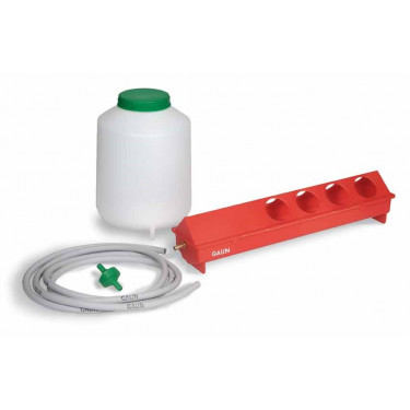 Napáječka pro slepice, sada - 10 m hadice, filtr a nádrž na 8 litrů