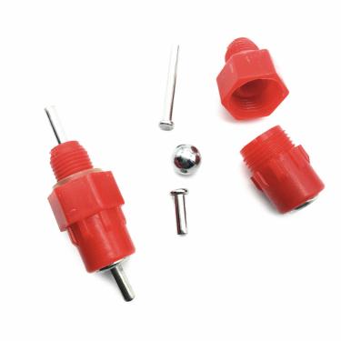 "Nipl AGROFORTEL, plastový, červený, 1/8"", 3 mm nipl"