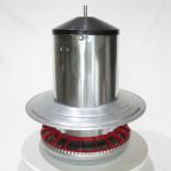 AGROFORTEL Tubusové krmítko pozinkované - 18 kg - včetně zavěšení