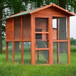 Dřevěný kurník BRUSEL DELUXE, 1900x1240x1480 mm