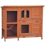 Dřevěná králíkárna TEPLICE, 1220x480x1035 mm