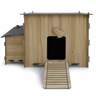 Dřevěný kurník a husník CHRUDIM, 1230x700x815 mm