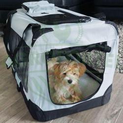 Přepravní box na psa nebo kočku - velikost M, šedý