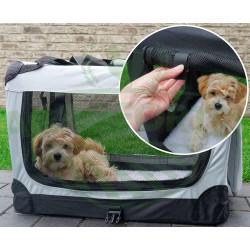 Přepravní box na psa nebo kočku - velikost L, šedý