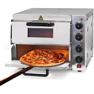 Pec na pizzu AGF-P-2 - 2 komory, šamotové dno, 3000 W