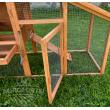 Dřevěný MOBILNÍ kurník BERLIN XL MOBIL na kolečkách, 1900 x 1130 x 650 mm