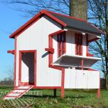Dřevěný kurník a husník BUKUREŠŤ, 1100x1130x920 mm