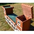 Dřevěná králíkárna SOBĚSLAV, 2600x540x1280 mm