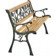 Zahradní lavička Beta - kovová se dřevem, 122 x 54 x 73 cm