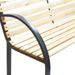 Zahradní lavička Gamma - kovová se dřevem, 120 x 62 x 82 cm