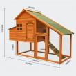 Dřevěný kurník BERLIN, 1710x660x1200mm