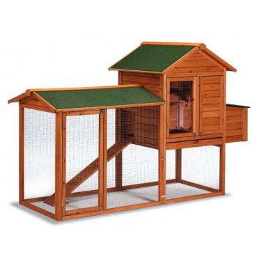 Dřevěný kurník DUBLIN, 2270 x 940 x 1510 mm