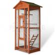 Voliéra pro ptáky - velikost L - masivní dřevo, 83 x 60 x 160 cm