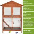 Voliéra pro ptáky - velikost XL - masivní dřevo, 122 x 60 x 177 cm
