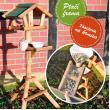 Dřevěné ptačí krmítko Ptačí farma