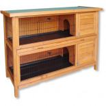 Dřevěná králíkárna pro dva králíky LONDÝN, 1364x498x927mm