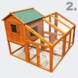 Dřevěný kurník TRNAVA, 2295x1280 x1170 mm