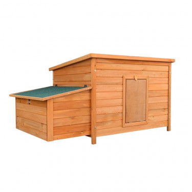 Dřevěný kurník a husník HRADEC, 1360x740x700 mm