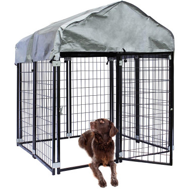 Venkovní kotec pro psa BAX - oplocený výběh - 121 x 121 x 137 cm