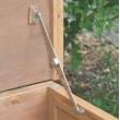 Dřevěný kurník a husník FLORENTINA, 1460x740x800 mm