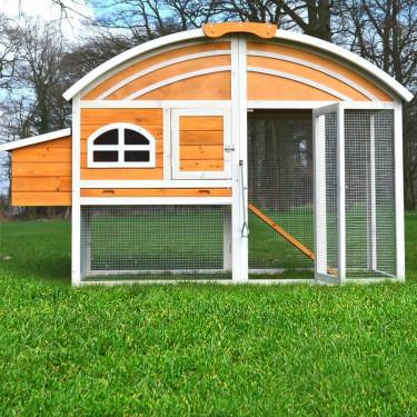 Dřevěný kurník LINEC, 2000 x 700 x 1200 mm