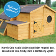 Dřevěný kurník OSLO, 1630x1550x860 mm