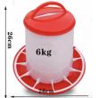 Krmítko pro drůbež tubusové - 6 kg