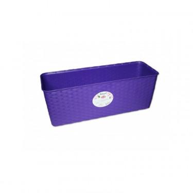 Truhlík Natural Delux samozavlažovací s ukazatelem stavu vody, 50 cm, fialový