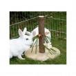 Stojan krmný pro králíky, dřevěný, 30 cm