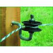 Izolátor rohový pro elektrický ohradník, s rolnou a vrutem
