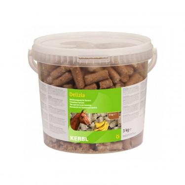 Pamlsek pro koně DELIZIA, banán, 3 kg
