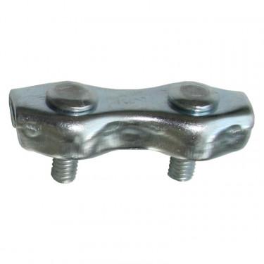 Spojka na lanko 1-2 mm pro elektrický ohradník, pozinkovaná