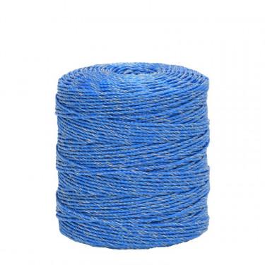 Lanko pro elektrický ohradník, průměr 3 mm, 400 m, modré