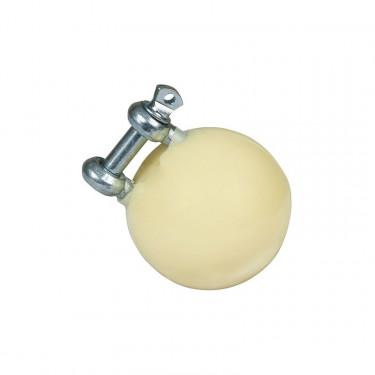 Hračka pro selata do 25 kg, míč průměr 55 mm, nerezový úchyt