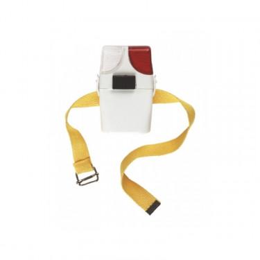 Svítilna bezpečnostní s páskou, bílo-červená, vč. baterie