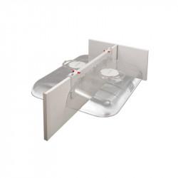Mobilní budník pro selata dvoumístný, transparentní, 40 cm