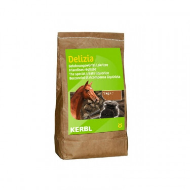 Pamlsek pro koně DELIZIA, lékořice, 1 kg