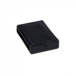 Spona pro upevnění konce obojku, 4 cm, černá