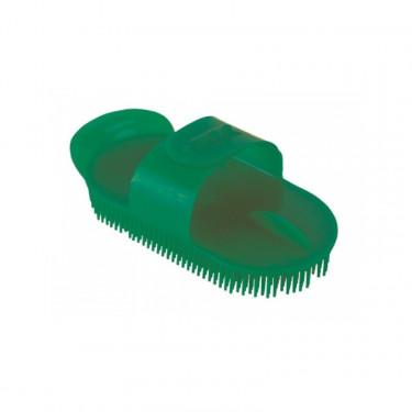 Kartáč plastový na čištění oválný velký, zelený