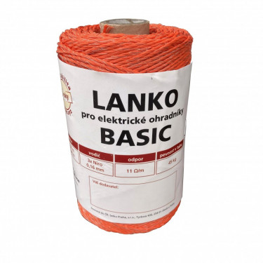 Lanko BASIC pro el. ohradník, 3x0,16 mm Niro
