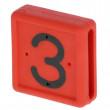 Čísla k pásce na nohu, pro skot, 0-9, 10 ks