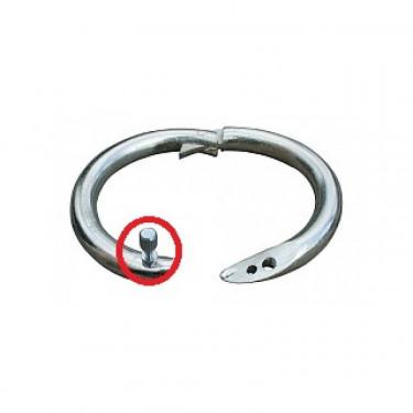 Šroubek náhradní pro kroužek nosní Top 52-54 mm, poniklovaný