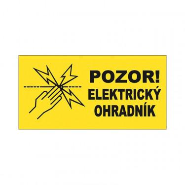 Tabulka výstražná na elektrický ohradník, oboustranná