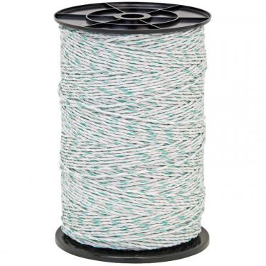 Lanko pro elektrický ohradník, průměr 3 mm, 400 m, zeleno-bílé