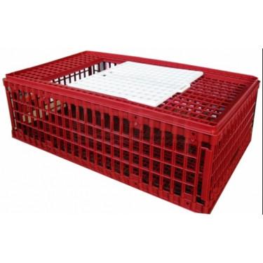 Přepravní box na drůbež - větší, skládací, 2x dvířka