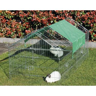 Venkovní výběh velikost M - pro drůbež a králíky, 2000 x 960 x 1020 mm s plachtou
